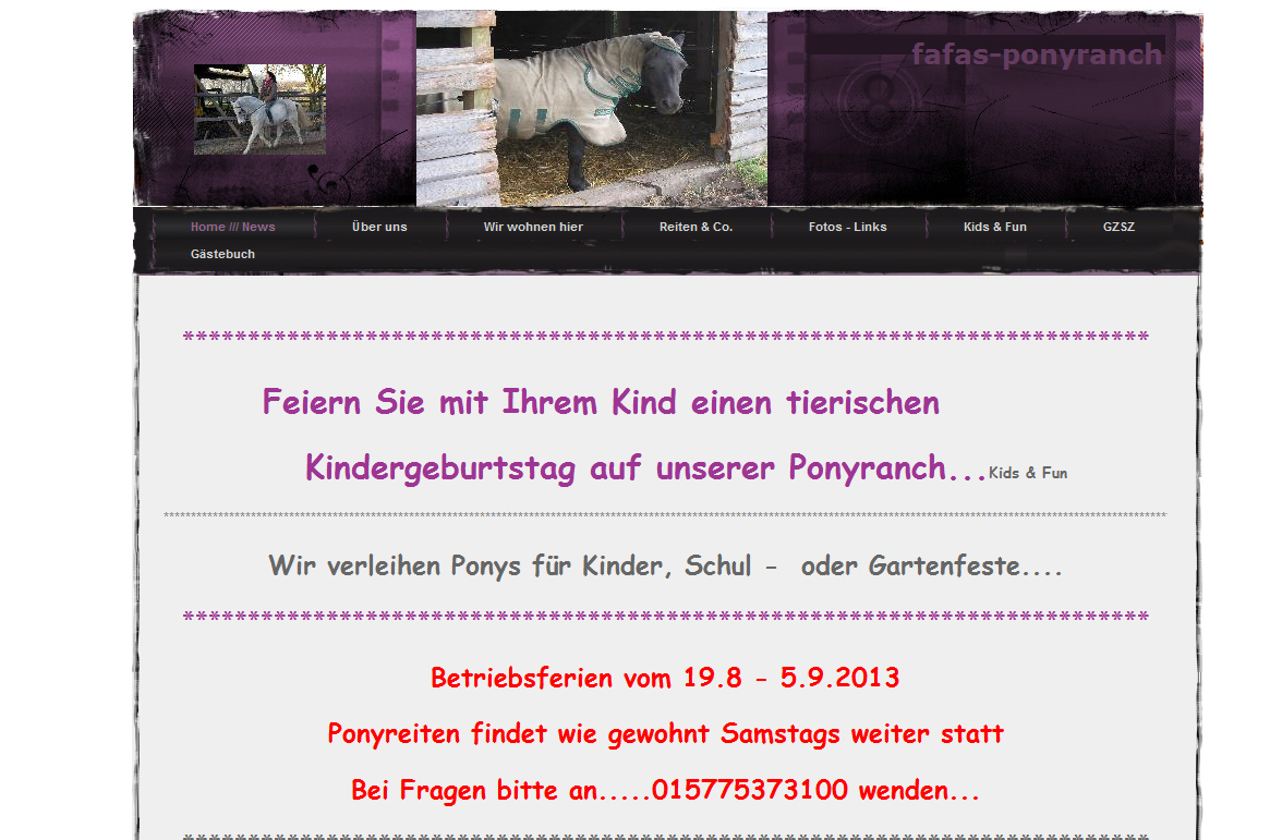 Fafas Ponyranch Düsseldorf