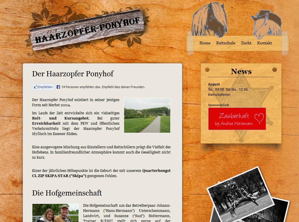 Haarzopfer Ponyhof Essen