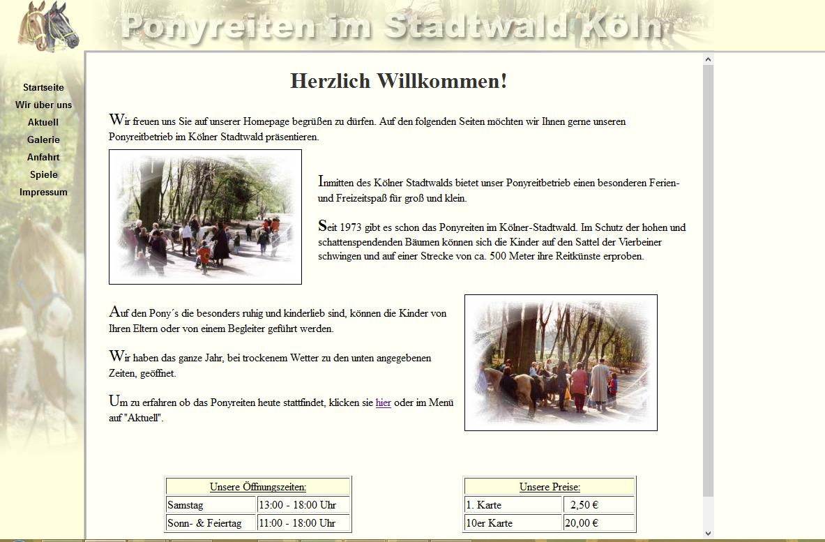 Ponyreiten im Kölner Stadtwald