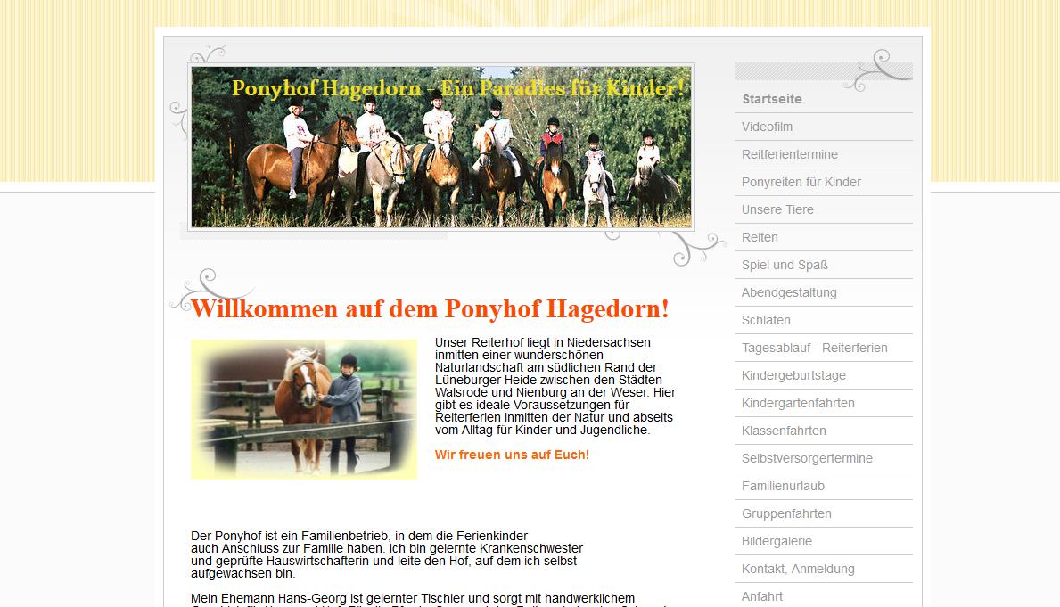 Ponyhof Hagedorn in Steimbke